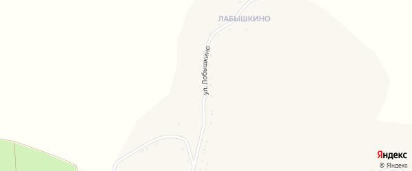 Улица Лобышкино на карте Огибного села с номерами домов