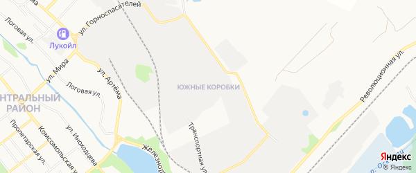 Карта промышленной зоны Южные Коробки города Губкина в Белгородской области с улицами и номерами домов