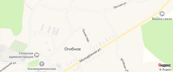 Тихий переулок на карте Огибного села с номерами домов
