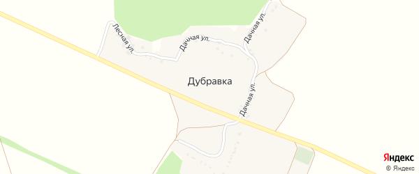 Лесная улица на карте хутора Дубравки с номерами домов