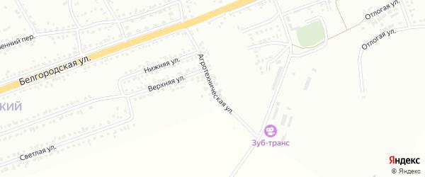 Агротехническая улица на карте Губкина с номерами домов