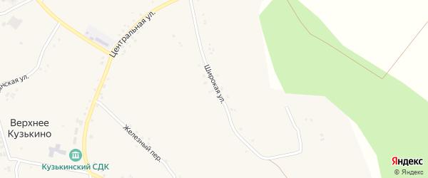 Широкая улица на карте села Верхнего Кузькина с номерами домов
