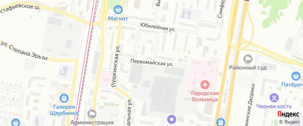 Первомайская улица на карте Щербинки с номерами домов
