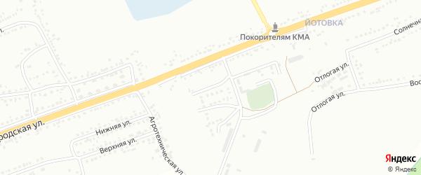 Мельничный 1-й переулок на карте Губкина с номерами домов