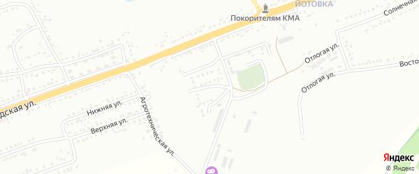 Мельничный 2-й переулок на карте Губкина с номерами домов