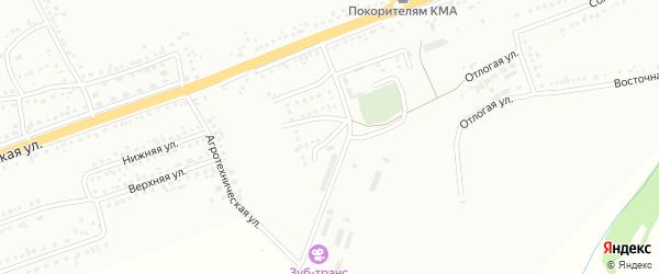 Мельничный 3-й переулок на карте Губкина с номерами домов