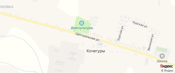 Центральная улица на карте села Кочегуры с номерами домов