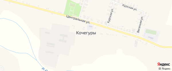 Садовая улица на карте села Кочегуры с номерами домов