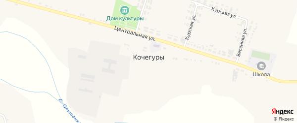 Луговая улица на карте села Кочегуры с номерами домов