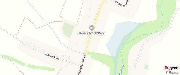 Центральная улица на карте села Волчьей Александровки с номерами домов