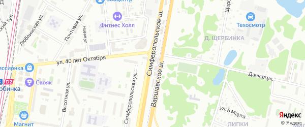 Варшавское шоссе 27-й километр на карте Щербинки с номерами домов