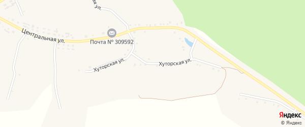 Хуторская улица на карте Огибного села с номерами домов