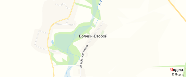 Карта хутора Волчьего-2 в Белгородской области с улицами и номерами домов