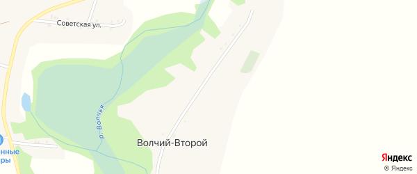 Улица им Н.Н.Калинина на карте хутора Волчьего-2 с номерами домов
