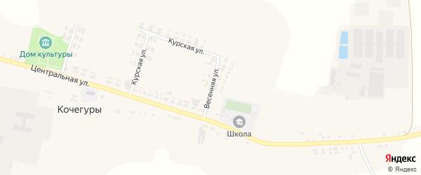 Весенняя улица на карте села Кочегуры с номерами домов