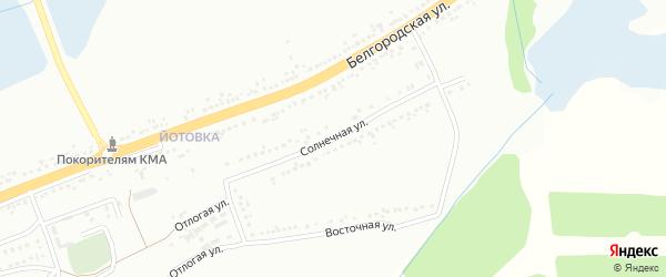 Солнечная улица на карте Губкина с номерами домов