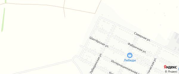Новолебединская улица на карте Губкина с номерами домов