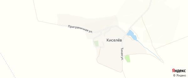 Карта хутора Киселева в Белгородской области с улицами и номерами домов