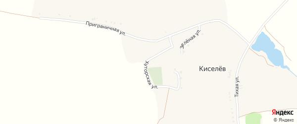 Зеленая улица на карте хутора Киселева с номерами домов