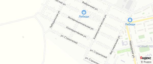 Кооперативная улица на карте Губкина с номерами домов
