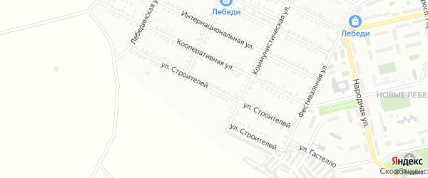 Улица Строителей на карте Губкина с номерами домов