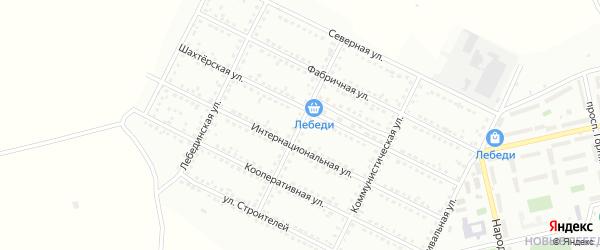 Улица Дружбы на карте Губкина с номерами домов