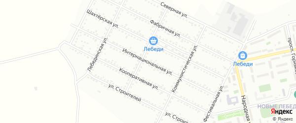 Интернациональная улица на карте Губкина с номерами домов