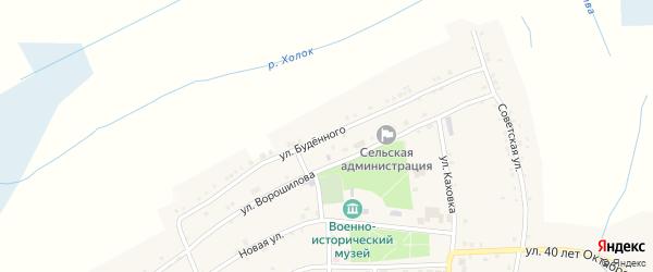 Улица Буденного на карте села Великомихайловки с номерами домов