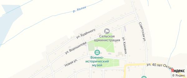 Улица Ворошилова на карте села Великомихайловки с номерами домов