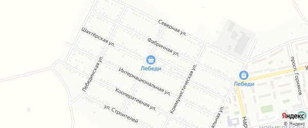 Шахтерская улица на карте Губкина с номерами домов