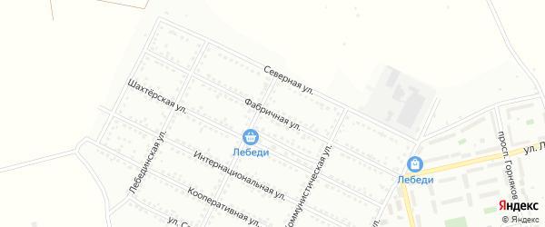 Фабричная улица на карте Губкина с номерами домов