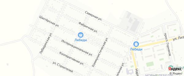 Шахтерский переулок на карте Губкина с номерами домов