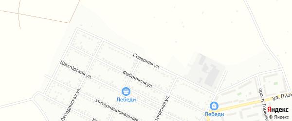 Северная улица на карте Губкина с номерами домов