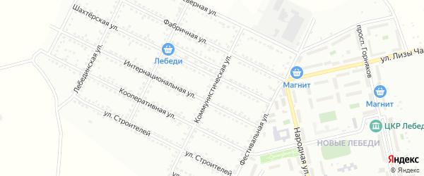 Коммунистическая улица на карте Губкина с номерами домов