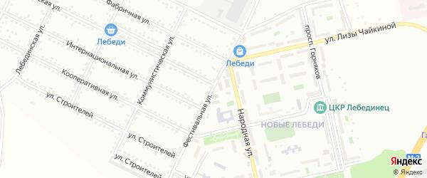 Фестивальная улица на карте Губкина с номерами домов