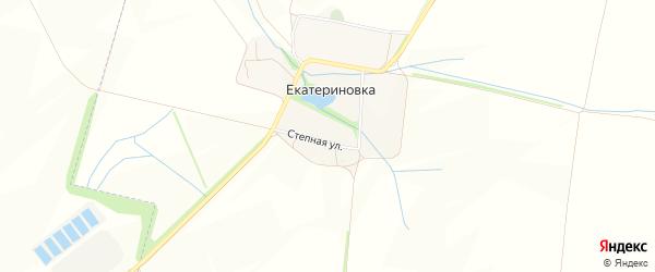 Карта хутора Екатериновки в Белгородской области с улицами и номерами домов