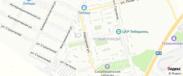 Улица П.Морозова на карте Губкина с номерами домов