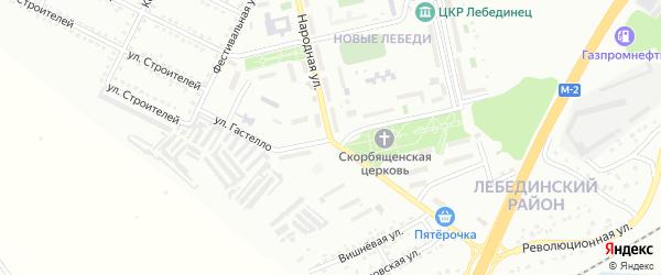 Улица Гастелло на карте Губкина с номерами домов