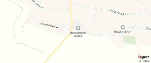 Молодёжная улица на карте села Волково с номерами домов