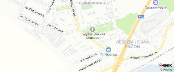 Народная улица на карте Губкина с номерами домов