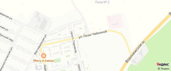 Улица Лизы Чайкиной на карте Губкина с номерами домов