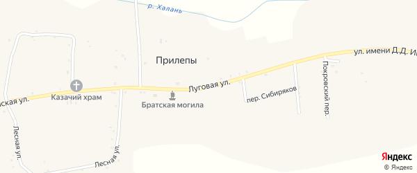 Луговая улица на карте села Прилепы с номерами домов