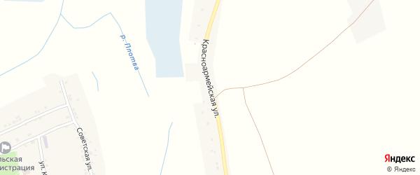 Красноармейская улица на карте села Великомихайловки с номерами домов