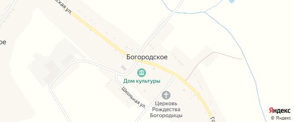 Улица Голицына на карте Богородского села с номерами домов