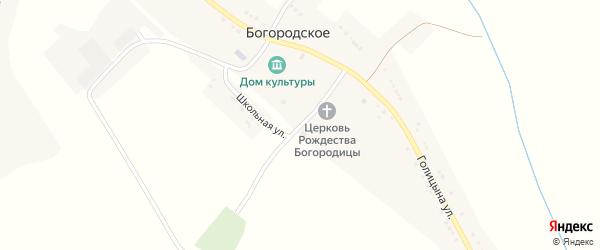 Школьная улица на карте Богородского села с номерами домов