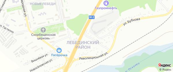Революционный переулок на карте Губкина с номерами домов