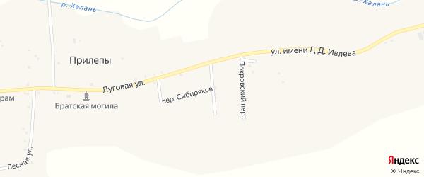Лесная улица на карте села Прилепы с номерами домов