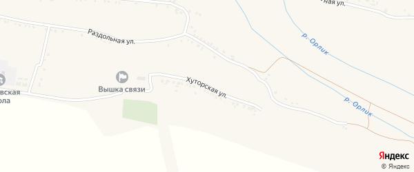 Хуторская улица на карте села Волково с номерами домов