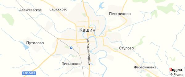 Карта Кашина с районами, улицами и номерами домов