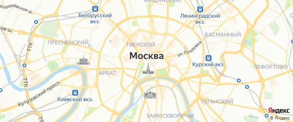 Карта Москвы с районами, улицами и номерами домов